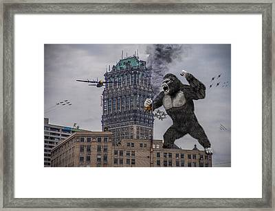 Framed Print featuring the photograph King Kong In Detroit At Wurlitzer by Nicholas  Grunas