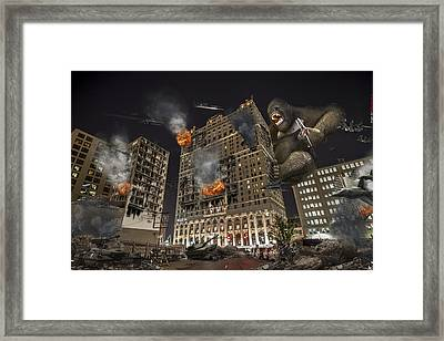 Framed Print featuring the photograph King Kong In Detroit Westin Hotel by Nicholas  Grunas
