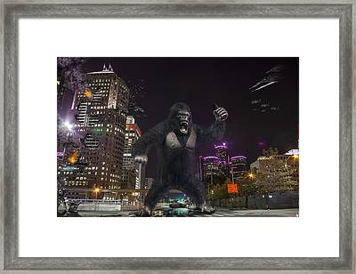 Framed Print featuring the photograph King Kong On Jefferson St In Detroit by Nicholas  Grunas