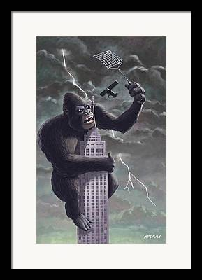 King Kong Framed Prints