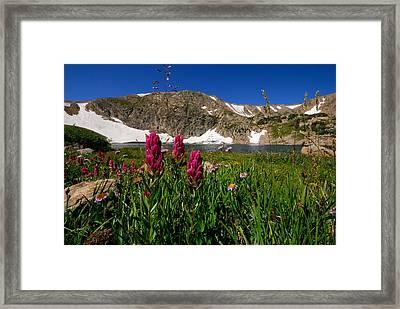 King Lake Framed Print