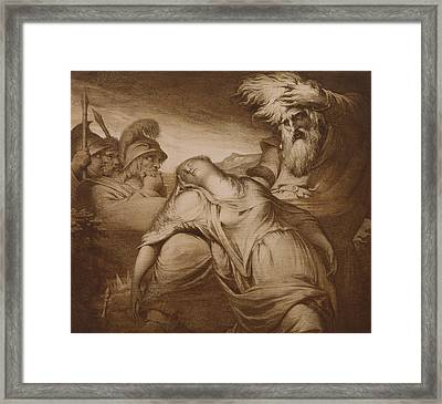 King Lear And Cordelia Framed Print
