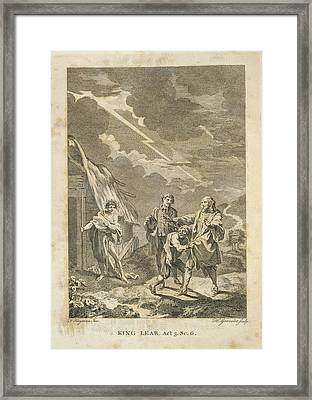 King Lear Framed Print by British Library