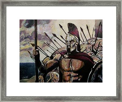 King Leonidas Framed Print by Jeremy Moore
