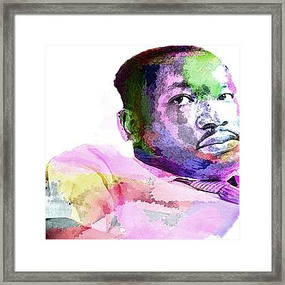 King Framed Print by Lisa McKinney