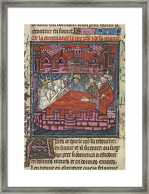 King Louis Ix's Last Instructions Framed Print by British Library