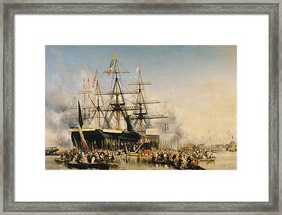 King Louis-philippe Disembarking At Portsmouth Framed Print