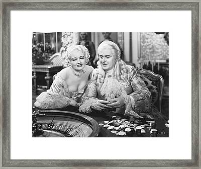 King Louis Xv Gambling Framed Print by Underwood Archives