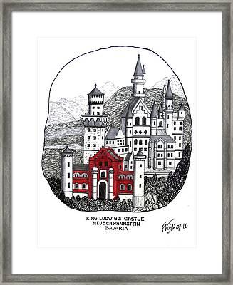 King Ludwigs Castle  Framed Print by Frederic Kohli