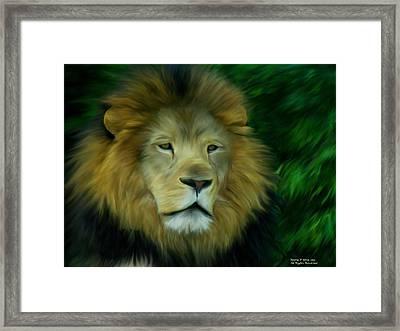 King Framed Print by Maria Urso