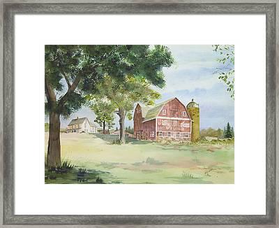 King Midas Barn Framed Print by Susan Crossman Buscho