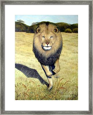 King Of Beasts Framed Print