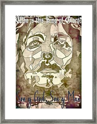 King Of Glory Framed Print by Michelle Greene Wheeler