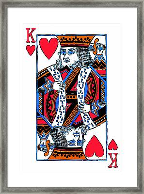 King Of Hearts 20140301 Framed Print by Wingsdomain Art and Photography