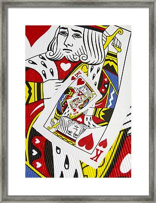 King Of Hearts Collage Framed Print