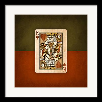 Playing Cards Digital Art Framed Prints