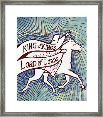 King Of Kings Framed Print by Peter Olsen