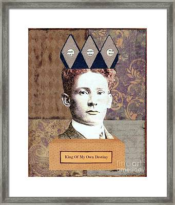 Framed Print featuring the mixed media King Of My Own Destiny by Desiree Paquette