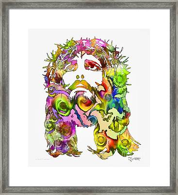 Framed Print featuring the painting King Of Not Of This World by Dave Luebbert