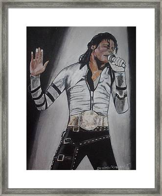 King Of Pop Framed Print by Demitrius Roberts