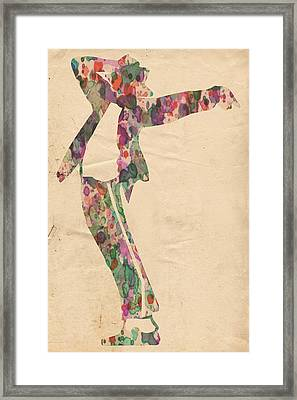 King Of Pop In Concert No 13 Framed Print by Florian Rodarte