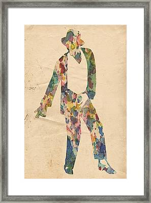 King Of Pop In Concert No 14 Framed Print by Florian Rodarte