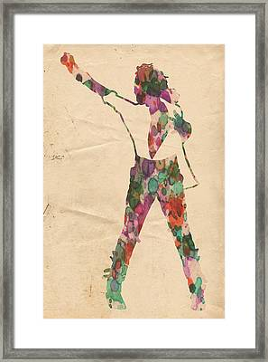 King Of Pop In Concert No 2 Framed Print by Florian Rodarte