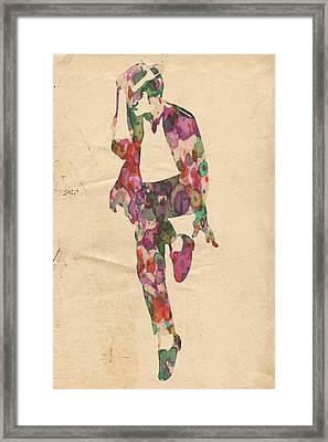 King Of Pop In Concert No 3 Framed Print