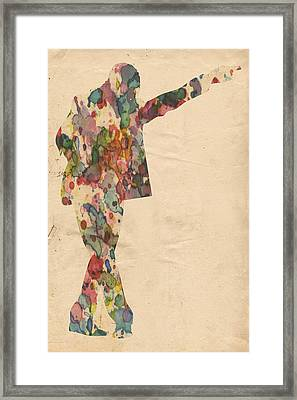 King Of Pop In Concert No 7 Framed Print by Florian Rodarte
