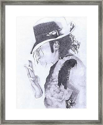 King Of Pop Framed Print