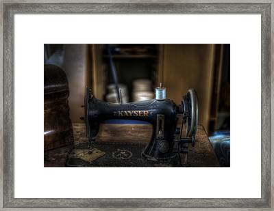 King Of Sewing Machines Framed Print by Nathan Wright