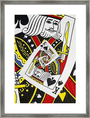 King Of Spades Collage Framed Print