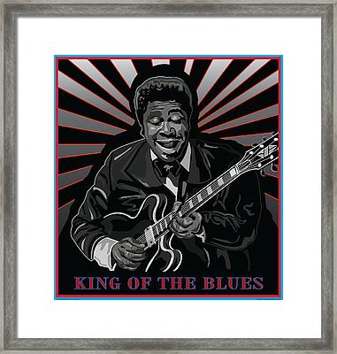 King Of The Blues Framed Print by Larry Butterworth