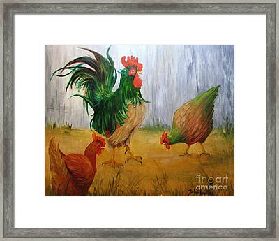 King Of The Chicken Yard Framed Print