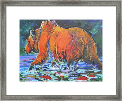Framed Print featuring the painting King Of The Fishes by Jenn Cunningham