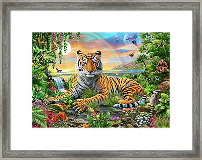 King Of The Jungle Framed Print by Adrian Chesterman
