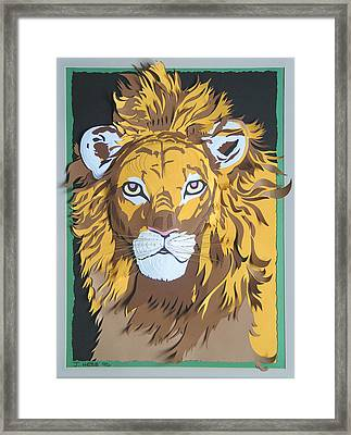 King Of The Jungle Framed Print by John Hebb