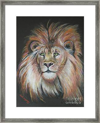King Of The Jungle Framed Print by Lora Duguay