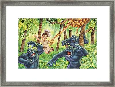 King Of The Jungle Framed Print by Phil Wilson