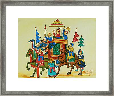 King Of The Procession Framed Print