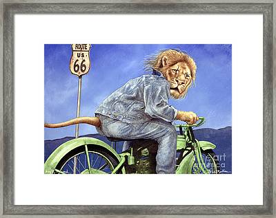 King Of The Road... Framed Print by Will Bullas
