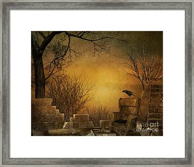 King Of The Ruins Framed Print by Bedros Awak