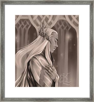 King Of The Woodland Realm Framed Print by Lydia Kinsey
