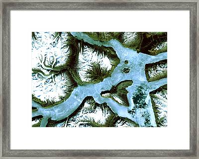 King Oscar Fjord Greenland Framed Print by Anonymous