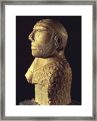 King-priest. Ca. 2000 Bc. Limestone Framed Print