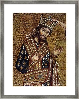 King Roger II Of Sicily Framed Print