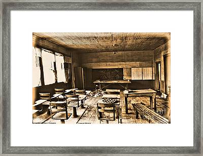 King School 1916 To 1948 Framed Print by Michelle and John Ressler