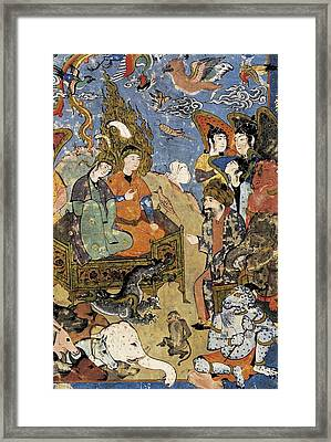 King Solomon And The Queen Of Sheba Framed Print by Everett