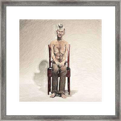 King Framed Print by Taylan Apukovska