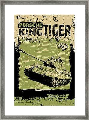 King Tiger Porsche Framed Print by Philip Arena